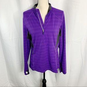 MPG Mondatta purple gray Half zip sweatshirt large